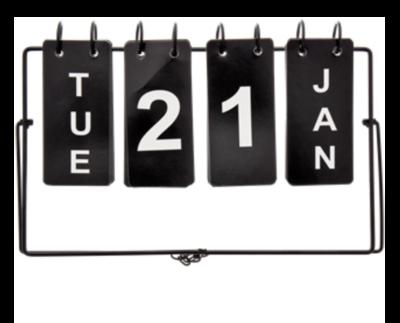 Industriële dag (omslag) kalender - Zwart - Metaal - Tafel/bureau kalender
