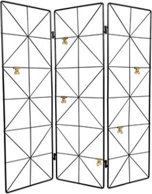 Drieluik draadrek MAYKE - Zwart - Metaal - 53,5 x 58,3 cm