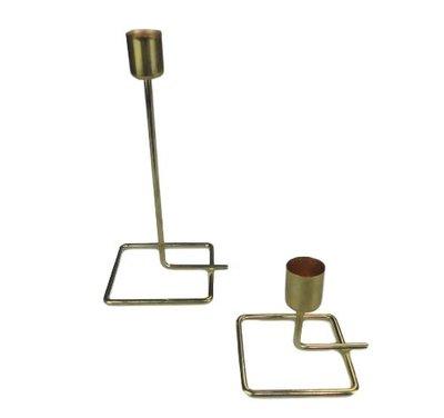 Kandelaar ERIC - Goud - Maat L - 10 x 8.5 x 19.5 cm