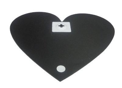 Wandkrijtbord HART - Zwart - 35 x 33.5 cm