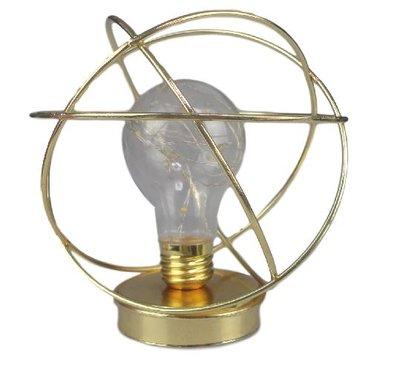 Draad LED Lantaarn RIJO - Goud - Metaal - 15 x 15 x 14.5 cm