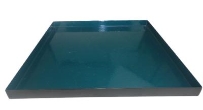 Decoratie tray/dienblad RINY - Donkergroen / Zwart - Metaal - 25 x 25 x 1.5 cm