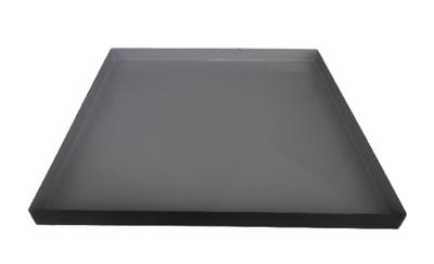 Decoratie tray/dienblad RINY - Grijs / Zwart - Metaal - 25 x 25 x 1.5 cm
