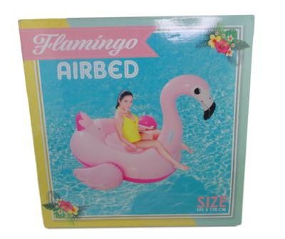 Flamingo luchtbed XL - Roze - Kunststof - 191 x 178 cm