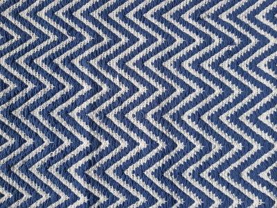 Badmat met golf motief REINDERT - Blauw / Wit - 50 x 80 cm