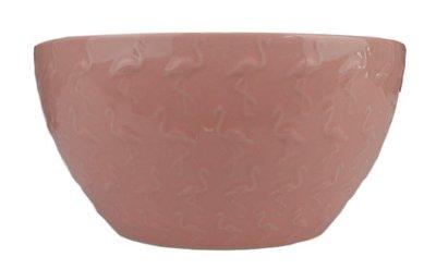 Kom Flamingo - Roze - Keramiek - h 7.5 x Ø 15 cm - Set van 2
