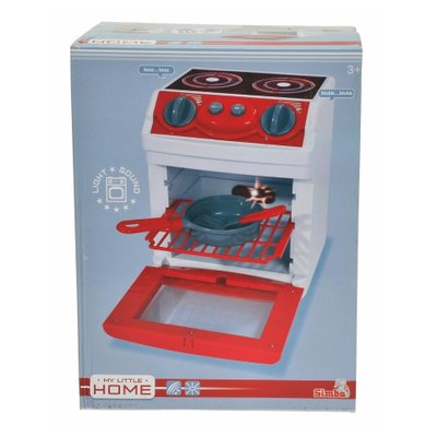 My Little Home oven - Rood / Wit - Kunststof