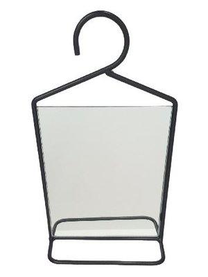 Halspiegel RINSE - Zwart - Metaal - 18 x 33 cm - Maat S