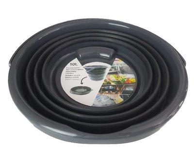Opvouwbare emmer VIK - Zwart  -Kunststof - 10 liter