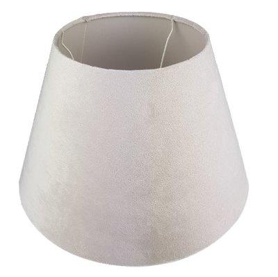 Fluwelen lampenkap DOMINIQUE - Beige - Ø 38 x h 25 cm