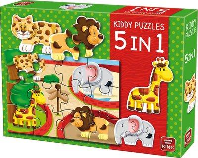 Kiddy Puzzel dierentuin 5 in 1