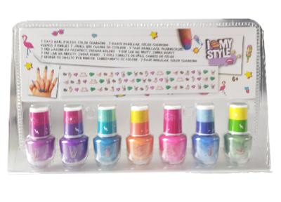 7 dagen nagellak voor kinderen - Multicolor - Colorchanging