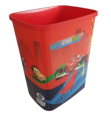 Kinder Prullenbak Cars - Multicolor - 33 x 39 x 25 cm - Prullenmand