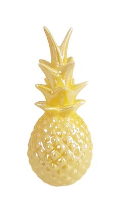 Deco ananas AMADEUS - Geel - Ø8 x H 18 cm