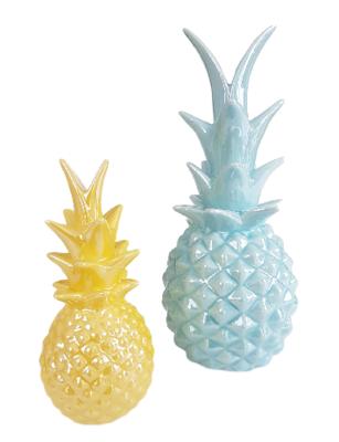 Deco ananas AREND - Blauw - Ø12 x H 28 cm