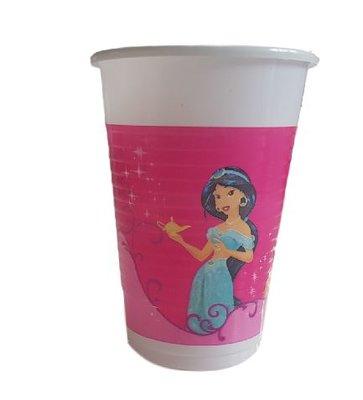 Disney Prinsessen Bekers - Roze - 200ml - 15 stuks