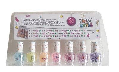 7 dagen nagellak voor kinderen - Multicolor - Glitter