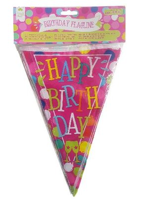 Happy Birthday Slinger - Multicolor - h 30 cm - 6 meter
