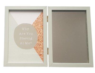 Dubbele fotolijst VINNY - Groen - Hout / Glas - 10 x 15 cm