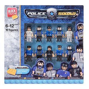 Block Tech - Politie speelfiguren - 10 stuks - Multicolor - Lego