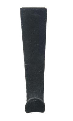 Fluwelen deurhaken - Zwart - Kunststof - Set van 3