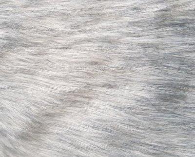 Konijnenvacht MERLIJN - imitatie bont - Grijs - 25 x 40 cm