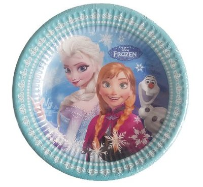 Disney Frozen bordjes - Multicolor - 15 stuks - Ø 19.5 cm