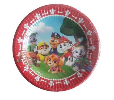Paw Patrol bordjes - Multicolor - 15 stuks - Ø 19.5 cm