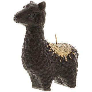 Alpaca kaars - Zwart / Goud - 10.5 x 5 x 14 cm - Lama