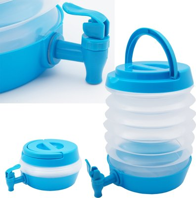Opvouwbare container met tapkraan FLORIAN - Turquoise - 3.3 L - Water Tap