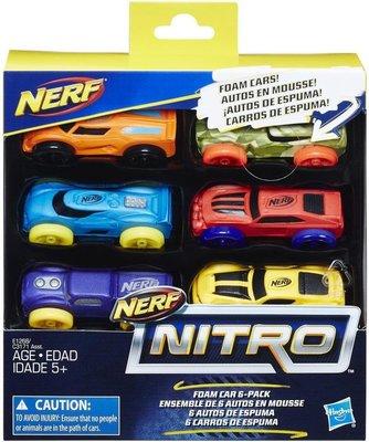 Nerf Nitro Foam Car - set van 6 - Kunststof - Multicolor