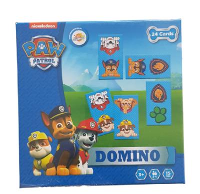 Paw Patrol Domino - Blauw / Multicolor - 24 kaartjes - Spel