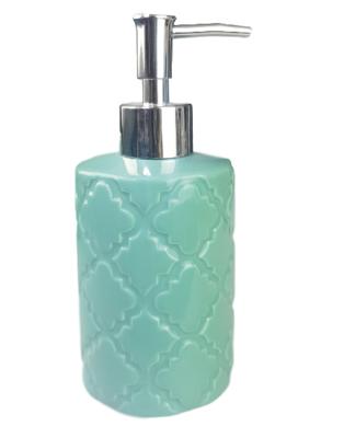 Tandenborstelhouder en zeepdispenser MARGA - Turquoise - Keramiek