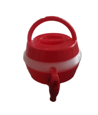 Opvouwvare container met tapkraan FLORIAN - Rood - 3.3 L - Water Tap