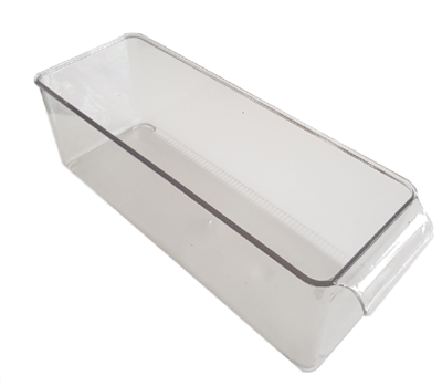 Koelkast opbergbak - Transparant - Plastic - 30 x 10 x 10 cm - Maat S