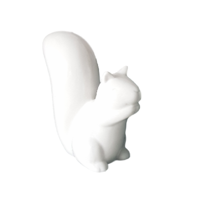 Beeld Eekhoorn SAM - Wit - 11 cm