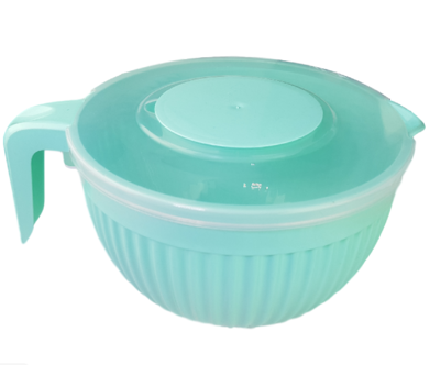 Beslagkom met deksel - Turquoise - Mengkom - Kunststof - 3.5 L
