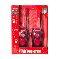 Brandweer walkie talkie met bereik van +/- 80 mtr