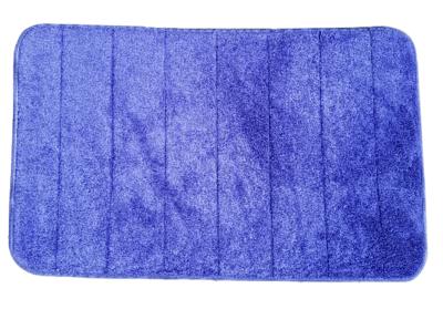 Badmat NEELTJE - Blauw - Polyester - 50 x 80 cm - Traagschuim