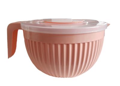 Beslagkom met deksel - Roze - Mengkom - Kunststof - 3.5 L