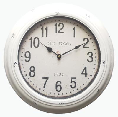Klok OLD TOWN - Wit - Metaal - Ø 43 cm