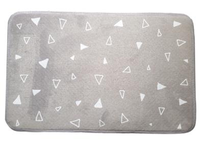 Badmat met driehoek motief OTTO - Grijs / Wit - 45 x 70 cm