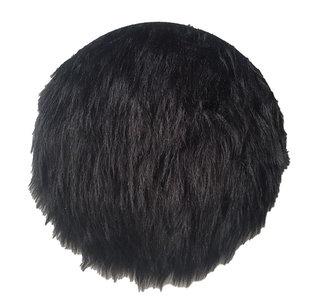 Bontkleedje TINE - imitatie bont - Zwart - Ø 35 cm