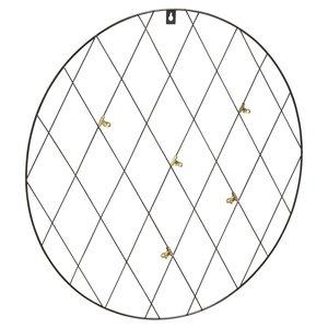 Memo rek met 5 knijpers DOUWE - Zwart - Metaal - Rond - Ø 50 cm