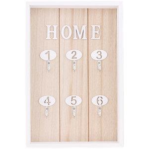 Sleutelkast voor 6 sleutels RINKE - Wit / Bruin - Hout