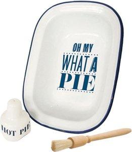 Jamie Oliver Taartvorm bakvorm met bakborstel en Pie Funnel