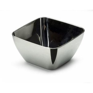Sabert mini Amuse tasting kommetje - Zilver - Kunststof - 5.5 x 5.5 x 3 cm - Set van 20