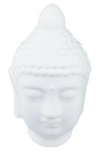 Red Hart - Beeld boeddha hoofd Ramesa - Wit - 18 cm