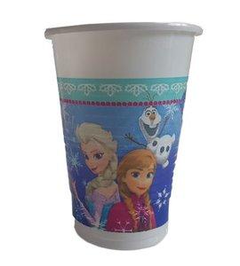 Disney Frozen Bekers - Blauw / Paars - 200ml - 15 stuks
