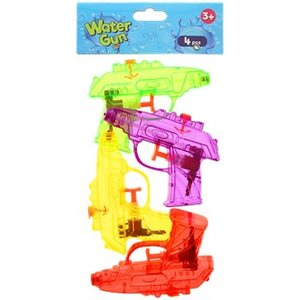 Kleine waterpistolen - Multicolor - Kunststof - set van 4